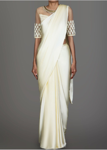 Image source: https://www.lashkaraa.com/products/cream-satin-saree